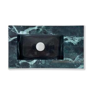 Lave main vasque en marbre pour salle de bain, fait par décomarbre