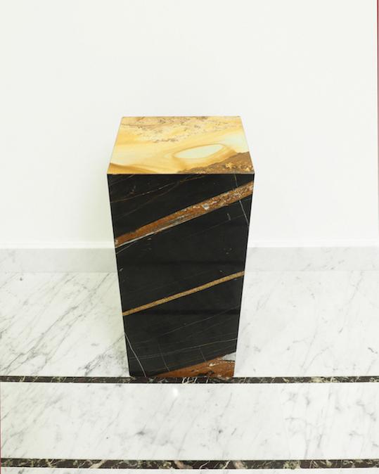Bout de canapé Sahara meuble en marbre
